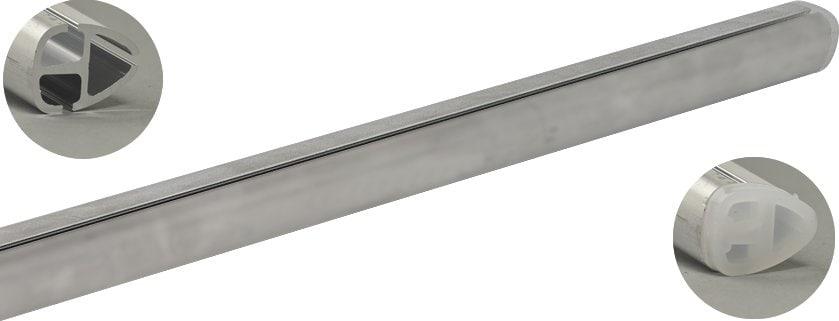 Beispiel:L/änge 60 cm mit 2 Halter Enden mit Bogen zur Wand Edelstahlhandlauf L/änge 0,3m 6m aus einem St/ück /& unterschiedlichen Endst/ücken zum Ausw/ählen /Ø 42,4 mm mit gewinkelte Halter